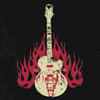 Guitar Flames Girls T-shirt